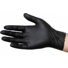 Купить Перчатки нитриловые, черные (упаковка 100 шт) в Минске